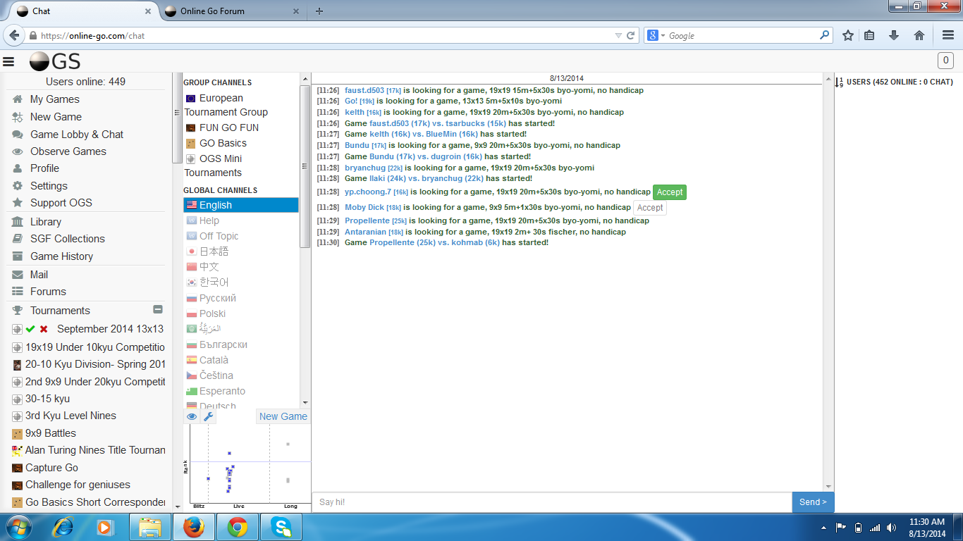 Chat not working, and I can\'t see online users in chat room and ...