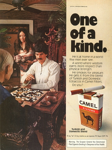 """One of a kind"" Camel Filters Vintage Ad 1976 Go"